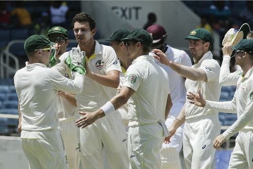 West Indies vs Australia 2015 second Test Day-3 match report.