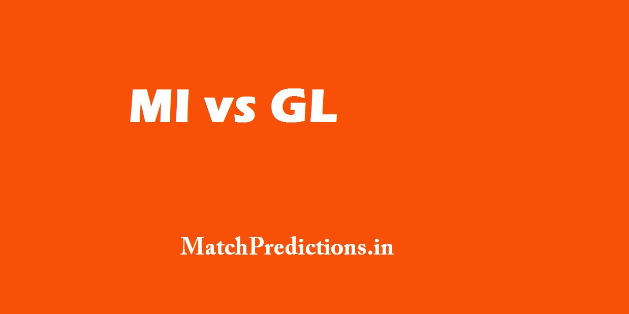MI vs GL,Mumbai Indians vs Gujarat Lions, 16th Match Who Will Win Today Match Prediction