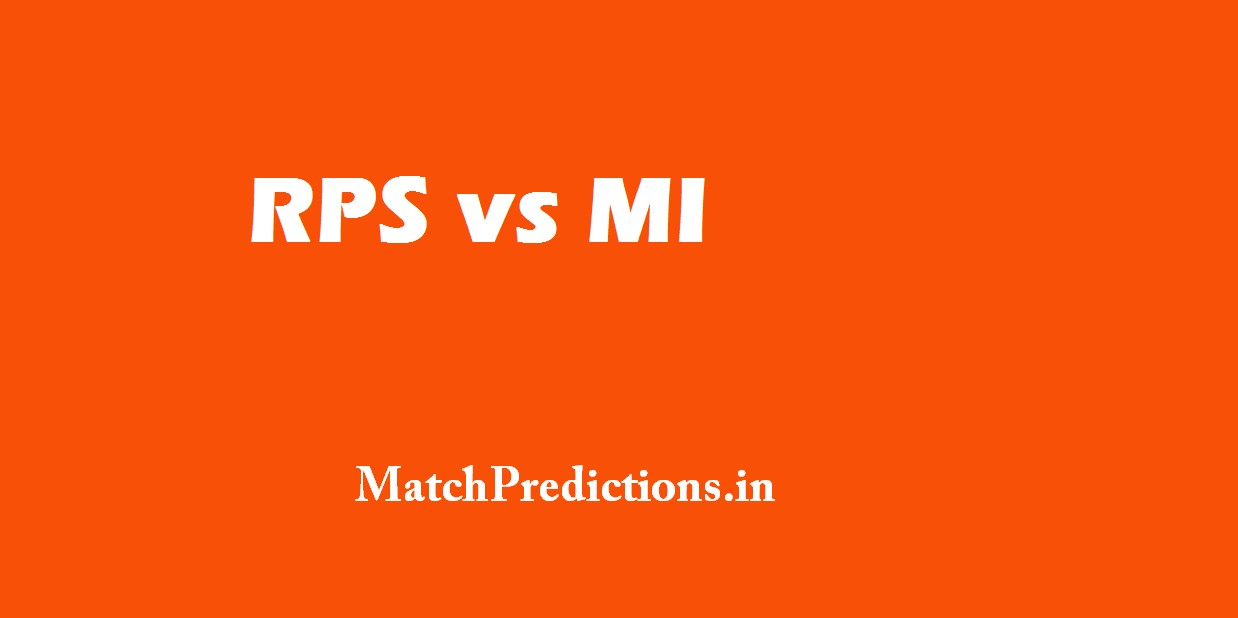 RPS vs MI, Rising Pune Supergiant vs Mumbai Indians, 2nd Match Who Will Win Today Match Prediction