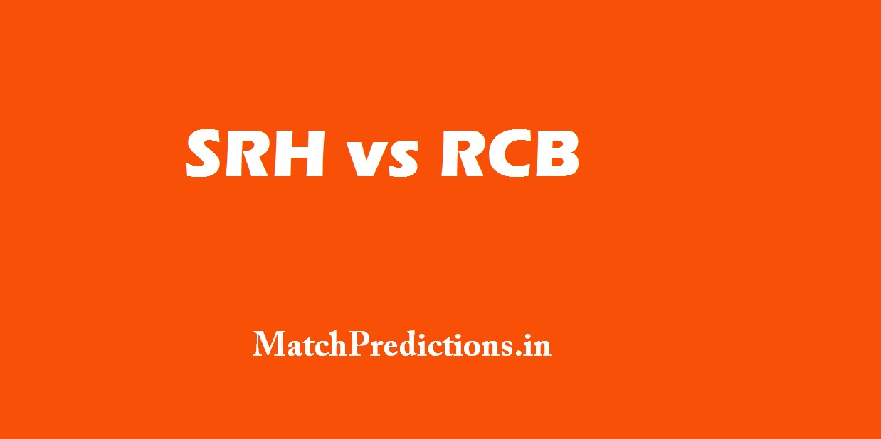 Who Will Win Sunrisers Hyderabad vs Royal Challengers Bangalore, 1st Match IPL10 Today Match Prediction